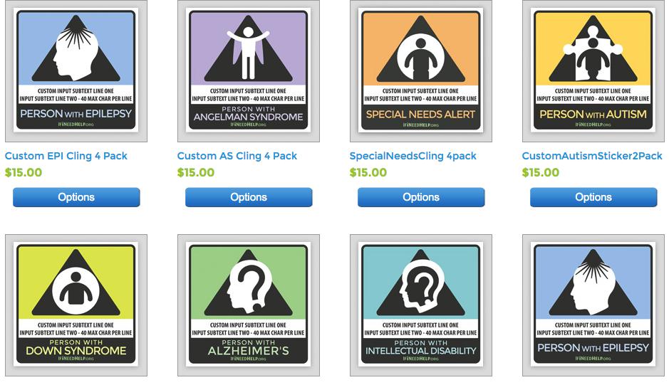 alert stickers