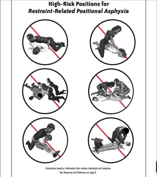 image courtesy of crisisprevention.com's Risks of Restraints
